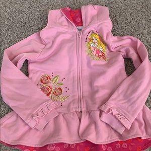 Disneystore Aurora Hoodie for Girls size 5/6